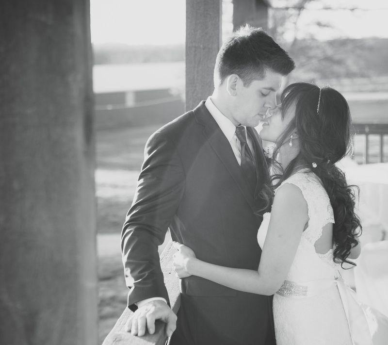 19_bride groom sunset kiss